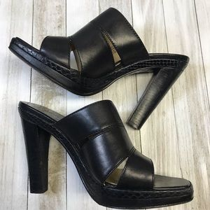 Michael Kors Leather Heeled Sandals 5-1/2